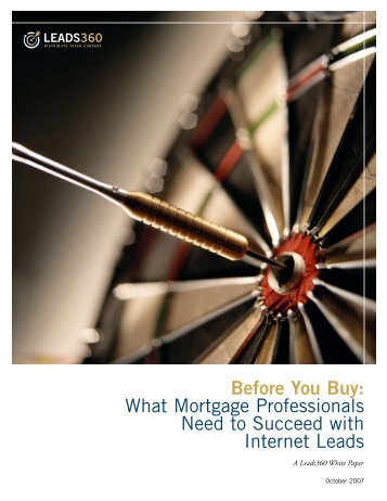 Before You Buy: What Mortgage Professionals Need to ... - LeadCritic