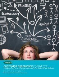 Customer experienCe Forum 2012 - Forrester