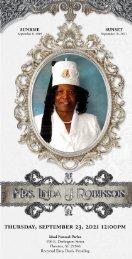 Mrs. Linda J. Robinson Memorial Program