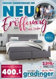 Möbel Gradinger - Großer Sonderverkauf zur Neu-Eröffnung