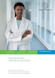Pharmazeuten/innen Haben Sie den Bayer-Spirit? - Bayer AG ...