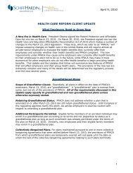 What Employers Need to Know Now - Schiff Hardin LLP