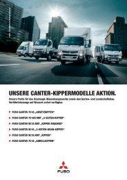 FUSO Canter Kippermodelle-Aktion