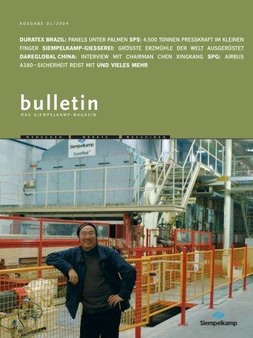 Siempelkamp Bulletin 2004