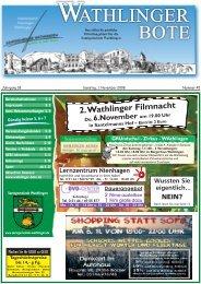 2 Filme ausleihen 1 Film gratis dazu - Wathlinger Bote