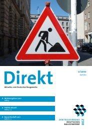 ZDB Direkt 2-2010.pdf - Zentralverband Deutsches Baugewerbe