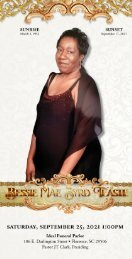 Bessie Teaste Memorial Program