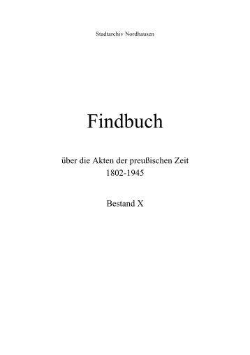 Findbuch - Friedrich Christian Lesser Stiftung