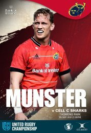 Munster Rugby v Cell C Sharks Match Programme