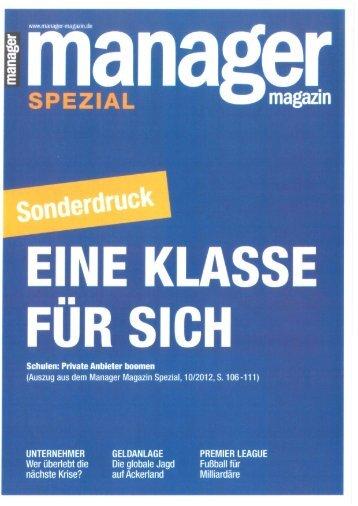 Manager Magazin 2011 - Strothoff International School