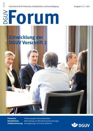 Ausgabe 1-2/11 - DGUV Forum