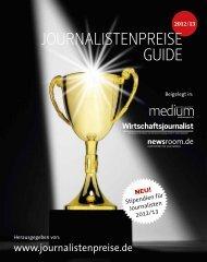 Journalistenpreise Guide - Newsroom.de