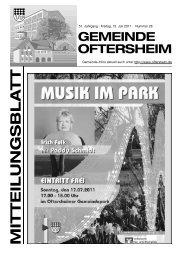 51. Jahrgang · Freitag, 15. Juli 2011 · Nummer 28 - Nussbaum Medien