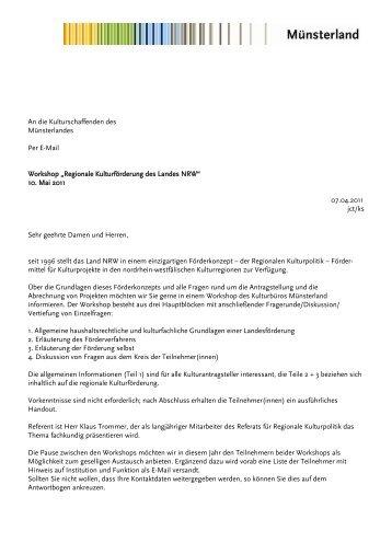 Einladung - Kulturbüro Münsterland