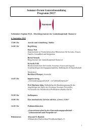 Sommer-Forum Generationendialog Programm 2012 - Dialog der ...