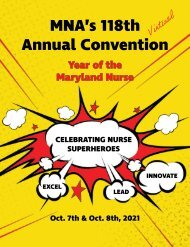 2021 Maryland Nurses Association Annual Convention