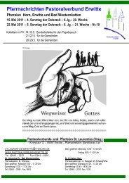 6.Jg.– 20. Woche 22. Mai 2011 – 5. Sonntag der Osterzeit – 6. Jg.