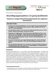 Beschäftigungsperspektiven von gering Qualifizierten Gewinne in ...