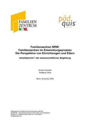 Familienzentren NRW: Familienzentren im Entwicklungsprozess Die ...
