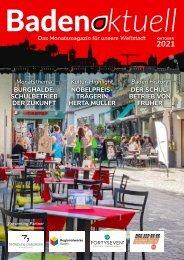 Baden aktuell Magazin Oktober 2021