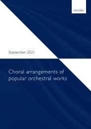Choral arrangements of popular orchestral works