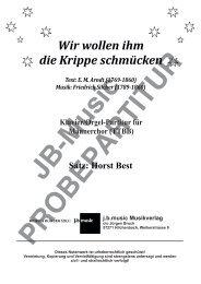 Wir wollen ihm die Krippe schmücken (Klavier/Orgel-Partitur für TTBB, TTB, SSA, SATB und SAM)