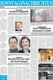 Matratze - Sonntagsnachrichten