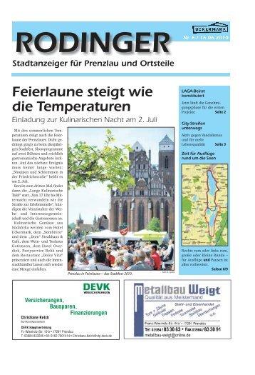Ausgabe 06/2010 - Rodinger