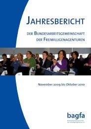 Jahresbericht 2010 - Bundesarbeitsgemeinschaft der ...