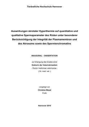 Auswirkungen skrotaler Hyperthermie auf quantitative und ...