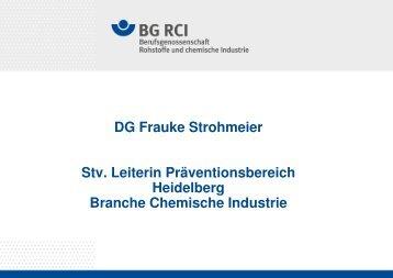 Frauke Strohmeier - Berufsgenossenschaft Rohstoffe und ...