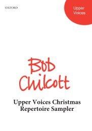 Bob Chilcott Upper Voices Christmas Sampler