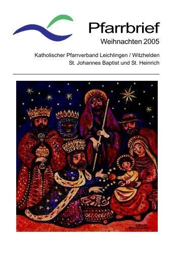 Pfarrbrief - kath. Pfarrgemeinde St. Johannes Baptist & St. Heinrich