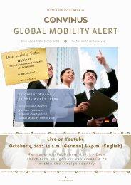 CONVINUS Global Mobility Alert Week 39