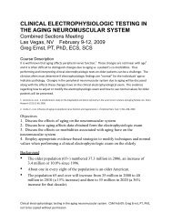clinical electrophysiologic testing in the aging neuromuscular system