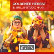 Goldener Herbst im Brillenstudio Hahn