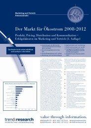 Der Markt für Ökostrom 2008-2012 - trend:research