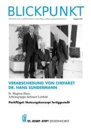 verabschiedung von chefarzt dr. hans sundermann - St. Josef-Stift ...