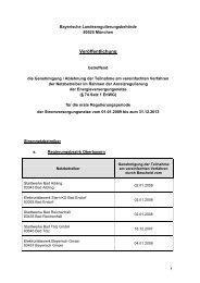 Strom - bei der Bayerischen Landesregulierungsbehörde