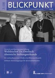 Blickpunkt 3/08 - St. Josef-Stift Sendenhorst