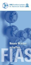 Neues Wissen schaffen - Frankfurt Institute for Advanced Studies ...
