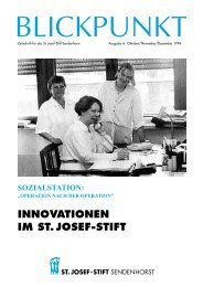 INNOVATIONEN IM ST. JOSEF-STIFT - St. Josef-Stift Sendenhorst