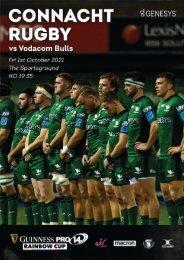 Connacht v Vodacom Bulls : URC Digital Match Programme