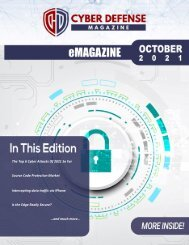 Cyber Defense eMagazine October Edition for 2021