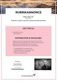 Salg til magasin 2022 - Rubrikannonce oplevelseskort
