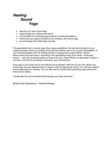 Healing Sound Yoga - Maison des Miracles