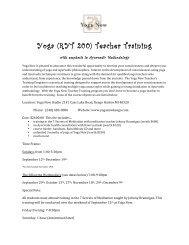 Yoga (RYT 200) Teacher Training - Yoga Now Keego