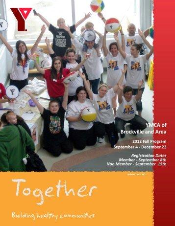 2012 Fall Brochure - Brockville and Area YMCA