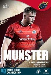 Munster Rugby v DHL Stormers Match Programme