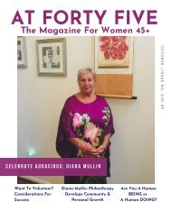 Are You Giving Back? AT FORTY FIVE Magazine Issue 2021 09 31